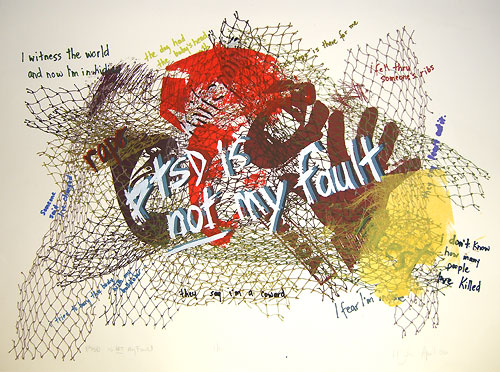 """PTSD is not my Fault"" screenprint image"